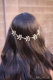 prom hair accessories gold leaf headband metal leaf hair accessory chain hair