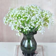 plastic flowers plastic flowers artificial babysbreath bouquet decorative