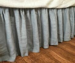 duck egg blue linen bedskirt linen dust ruffles bed skirts