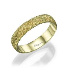 Yellow Gold Wedding Rings by Unique Wedding Ring 14k Yellow Gold Glitter Ring Wedding Band