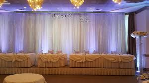 wedding backdrop on stage sanimar decor studio