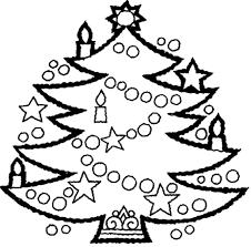 printable coloring page christmas tree coloring page