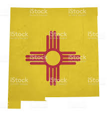 State Of New Mexico Map by Grunge State Of New Mexico Flag Map Stock Vector Art 468774845