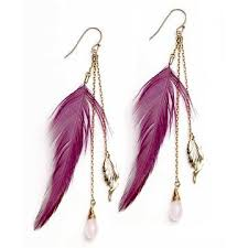 one side feather earring 42 best classic orange images on leather craft