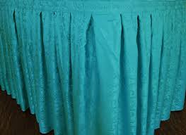 21 ft table skirt turquoise damask table skirts