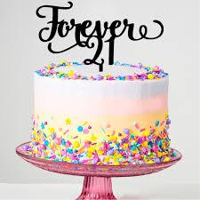 21 cake topper forever 21 cake topper prettyparties