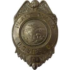 vintage us steel plant guard police badge 88 state of ohio from