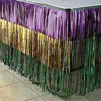 mardi gras skirt metallic fringe mardi gras table skirt