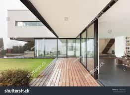 architecture beautiful interior modern villa view stock photo