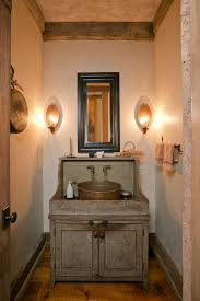 Rustic Bathroom Decorating Ideas Classic Reclaimed Wooden Bathroom Vanity With Pottery Sink