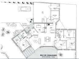 plan de maison en v plain pied 4 chambres plan maison gratuit 4 chambres free plan maison plain pied images