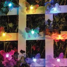 color changing solar string lights smart solar color changing light string 20 pieces butterfly the
