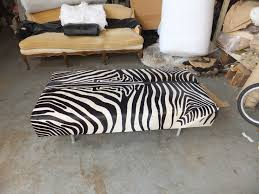 Zebra Chair And Ottoman