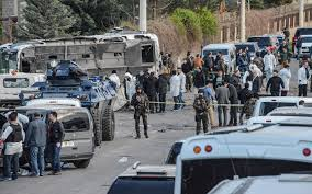 seven turkish cops in armored vehicle killed in bomb blast in