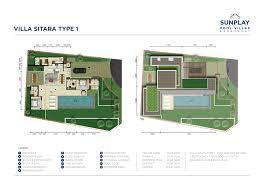the pool villas floor plans sunplay