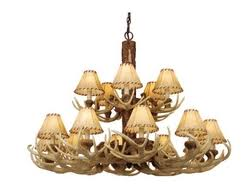 Leather Chandelier Rustic Cabin Lamps And Lighting Chandeliers