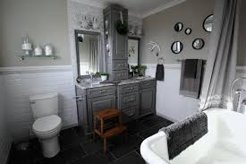 before and after grey and white traditional bathroom makeover