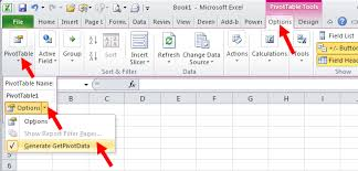 excel pivot table tutorial 2010 tom s tutorials for excel toggling the getpivotdata function on and