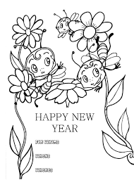 new year cards with animal coloring page new year coloring page
