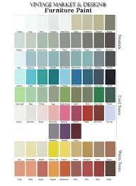 hand painted vm u0026d color chart 75 colors