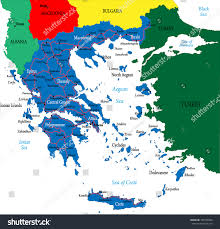Map Greece by Greecepolitical Map Stock Vector 102938048 Shutterstock