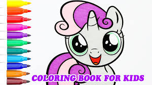 coloring book my little pony sweetie belle younger sister rarity