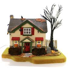 department 56 house hauntsburg house ceramic halloween snow