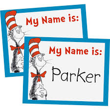 dr seuss hat template free dr seuss cat in the hat name tags
