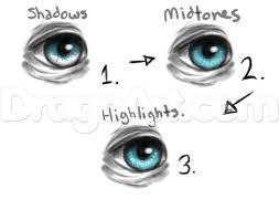 drawn eyeball coloured eye pencil and in color drawn eyeball