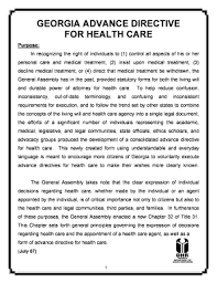 georgia advance directive for health care fill online printable