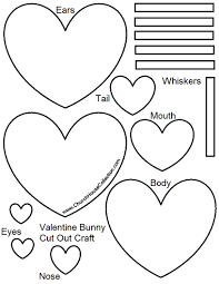 valentine u0027s day bunny rabbit heart cutout craft for kids