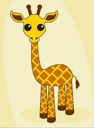 giraffe clipart easy draw pencil and in color giraffe clipart