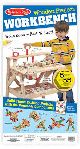 amazon com melissa u0026 doug solid wood project workbench play