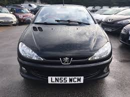 peugeot cabriolet 206 used black peugeot 206 for sale kent