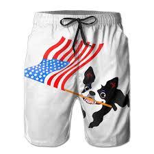 Boston Terrier Flag Mens Boston Terrier Running Flag Surf Menâ U20acs Swim Trunk Shorts