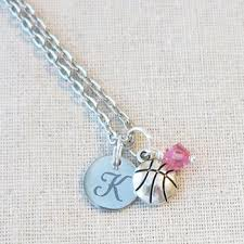 personalized basketball necklace necklace personalized varsity basketball team gifts