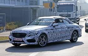 2015 mercedes c class convertible mercedes c class cabriolet spied with production
