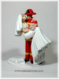 fireman wedding cake toppers firefighter exles of personalized cake tops