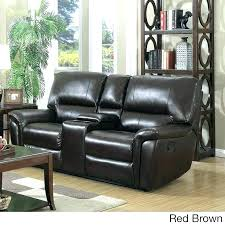 wallace leather power reclining loveseat red leather reclining
