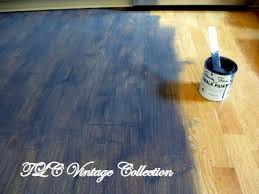 how to chalk paint wood laminate floor hometalk