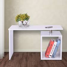 White X Desk by Homcom End Table Home Office Storage Display Computer Desk Cabinet