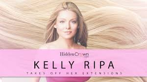 hair color kelly ripa uses kelly ripa takes off her hair extensions on a wire youtube