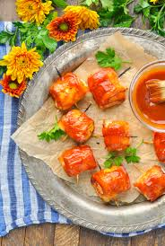 Chicken Breast Recipes For A Dinner Party - 3 ingredient bacon wrapped chicken bites the seasoned mom
