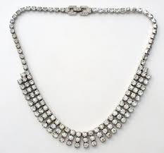 black rhinestone necklace images Kramer clear rhinestone necklace vintage ny the jewelry lady 39 s store JPG