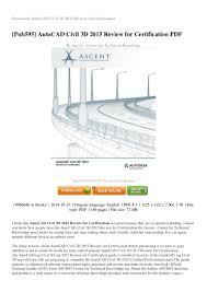 review autocad civil 3d 2015 review for certification pdf 8cb22