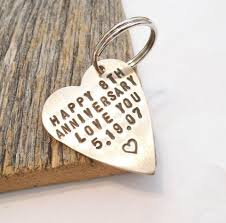 8 year anniversary gift annivesary keychain for 8 year anniversary for husband 8th