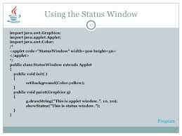 graphics programming in java