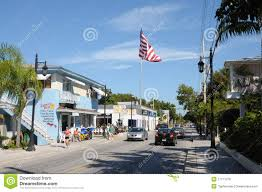 Key West Flag Street In Key West Florida Editorial Stock Photo Image Of