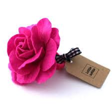 flower for hair bright pink felt flower hair band lottie nottie