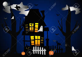 halloween graphic art a clip art illustration of halloween night when they all come